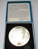 Szlovén 50 év jubileumi ezüst partizán emlékérem. 1994, 87,3gramm.