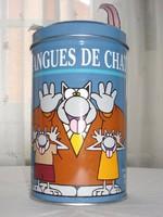 Galler, különleges belga macskanyelves fémdoboz
