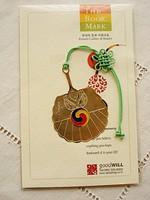 Tradicionális koreai könyvjelző 24 karátos arany bevonattal