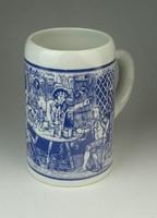 0Q777 Jelzett Alföldi porcelán söröskorsó 14 cm