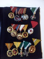 Magyar katonai kitüntetések - kitüntetés sor - gyűjteményi állapot