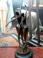 Art deco bronz aktok