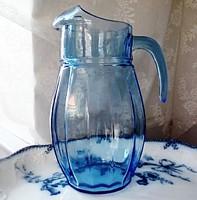 Nagy kék üveg kancsó
