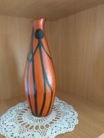 Kerámia váza Tófej