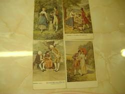 Hermann és Dorothea 916./917./Az udvarlók antik képeslapok egyben