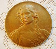 Berán Lajos, Budapesti emlék, bronz plakett  /1931/