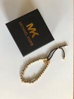 Michael Kors karkötő MK új aranyozott fém és barna bőr