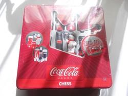 Retro régi nosztalgia bontatlan Coca Cola sakk készlet