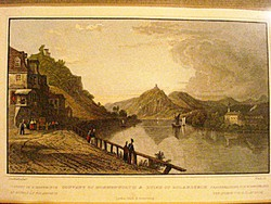 Convent of Nonnenworth, szines antik rézmetszet (1832)