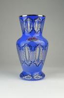 0Q585 Régi hibátlan állapotú cseh bieder üveg váza