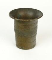 0Q644 Antik kisméretű bronz mozsár