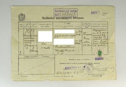 0Q613 Születési anyakönyvi kivonat 1939