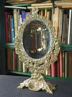 Dúsan díszített barokk asztali tükör