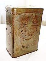 Szecessziós angol teás doboz - Ridgways 5 o clock (1910)