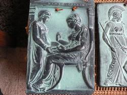 Görög égetett agyag kép 25x16 cm relikvia