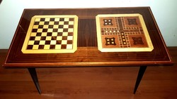 Retro Intarziás sakk asztal játék asztal