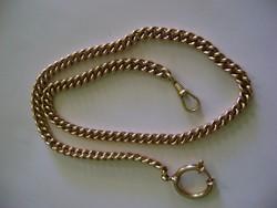 Nagyon szép antik 18 k aranyozott  jelzett ezüst Grófi Zsebóralánc (49,2 Gramm)