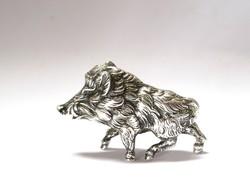 Renkívüli német ezüst vadkan miniatűr!
