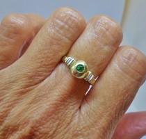Szépséges antik valódi tiszta smaragd 14kt aranygyűrű