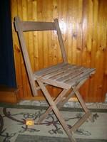 Régi, összecsukható kerti szék - amolyan se kicsi, se nagy