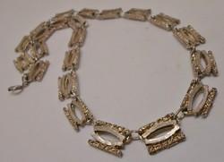 Különleges antik ezüstözött nyaklánc