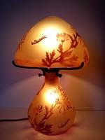 La Rochere Francia art glass cameo üveg asztali lámpa