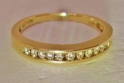 Szép antik 0,15ct brill arany gyűrű