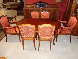 6 székes barokk garnitúra