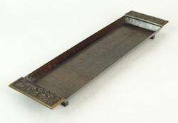 0Q805 Jelzett JÓNÁS iparművészeti bronz dísztál