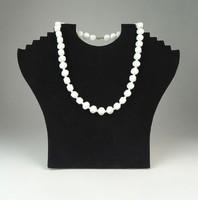 0Q560 Régi fehér bizsu gyöngysor nyaklánc