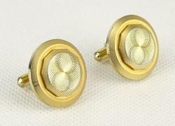0Q631 Elegáns aranyszínű mandzsetta pár