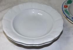Antik zsolnay fehér  mély tányérok 2 db