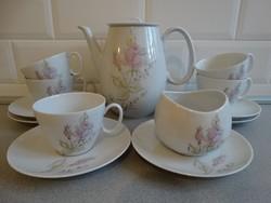 Rosenthal porcelán teáskészlet, tervezte Raymond Löwy