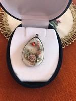 Porcelán festett medál