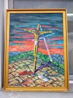 Baráth Pál : Golgota festmény