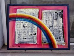 Baráth Pál festmény , címe : Levél