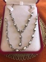 Ezüst antik kolié szett nyakék-nyaklánc