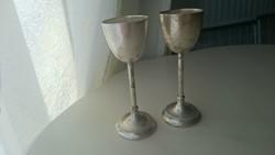Ezüst likőrös poharak 2db.