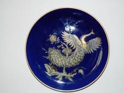 Jaeger Bavaria Echt Cobalt Páva luxus  falitányér
