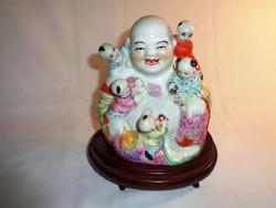 Eredeti kínai porcelán családi védőszent, 17 cm