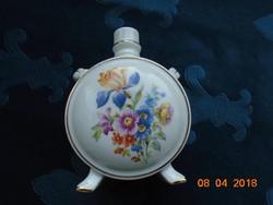 Hibátlan Drasche Virágos porcelán dísz kulacs-14 cm