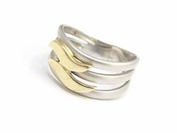 Hullámos arany gyűrű(Kecs.Au68856)