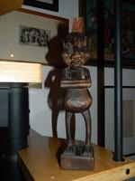 Keleti - indonéz - fa szobor - Bennszülött