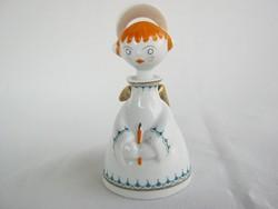 Hollóházi porcelán angyalka
