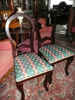 2 db teljesen felújított, újra kárpitozott biedermeier antik szék pár eladó