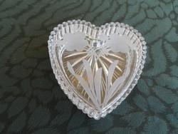 Ajkai kristály szívecskés dobozka