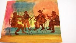 Festmény zenészekkel