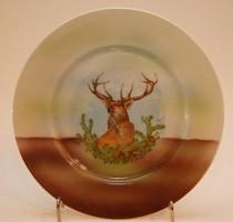 Dísz tányér, vadász trófeával