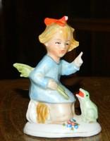 Békát nevelő kislány  antik sorsz. Altwien , békakirá