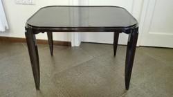 Francia Artdeco magasfényű fekete asztal